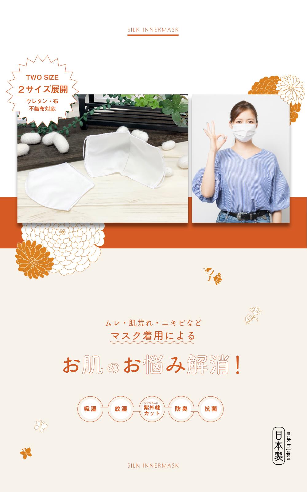 インナーマスク,シルクインナーマスク,日本製,立体,肌に優しい
