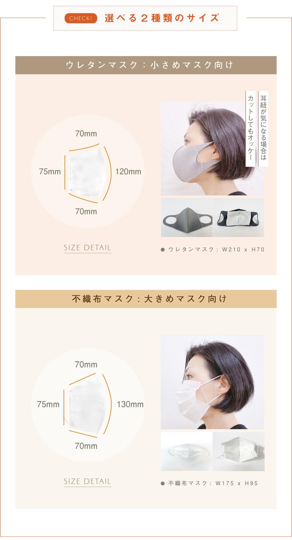 シルクインナーマスク,シルクマスク,ウレタンマスク,不織布マスク,布マスク,呼吸がしやすい,ズレ落ちない